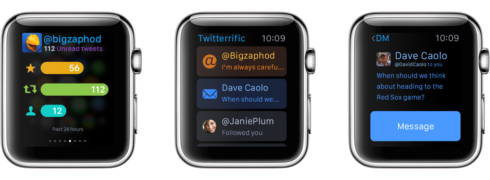 Twitterrific para el adelanto 003 de Apple Watch