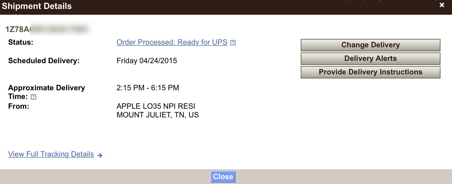 UPS Apple Watch My Choice