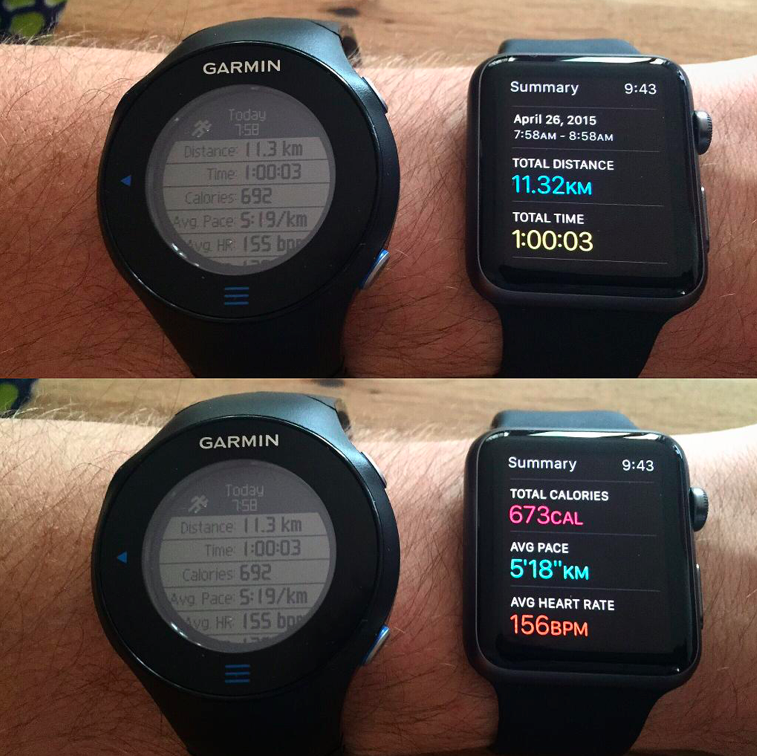 Watch vs Garmin Forerunner 610