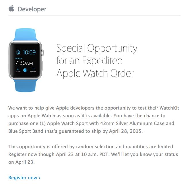 apple watch devs