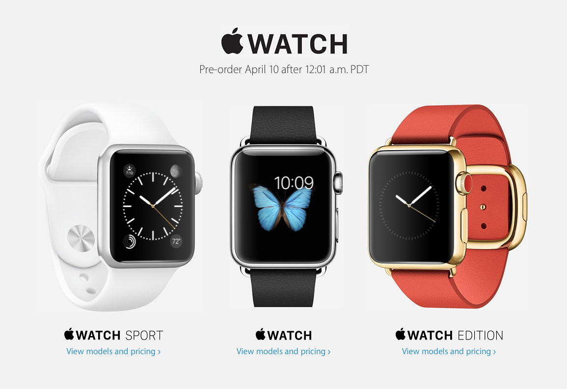 apple watch pre-order