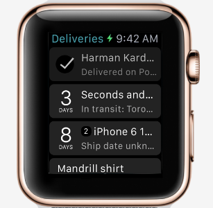 deliveries watch app