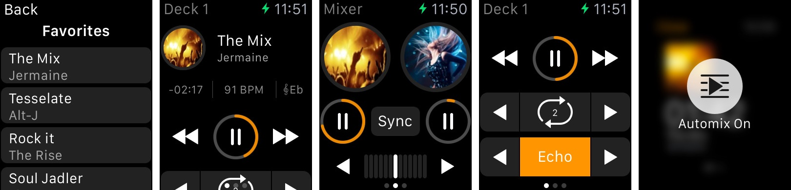 djay for Apple Watch screenshot 001