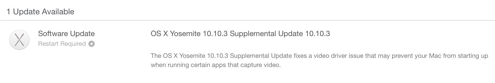 os x 10.10.3 supplemental update