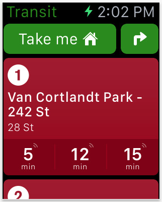 watch transit app
