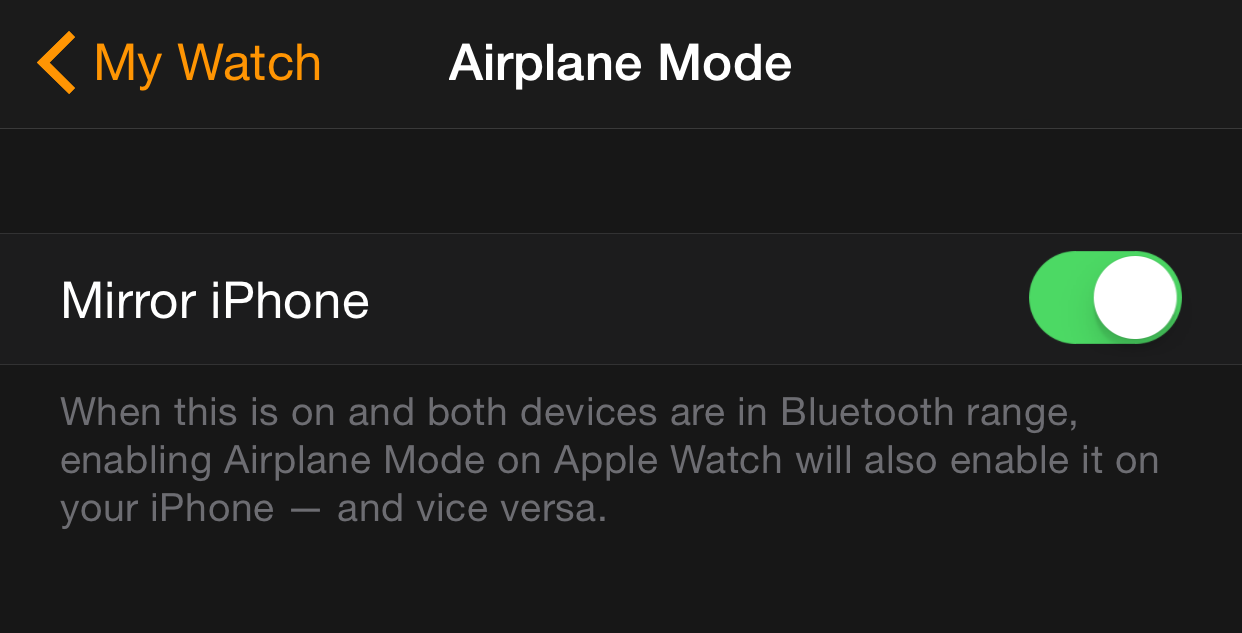 Airplane mode mirror iPhone