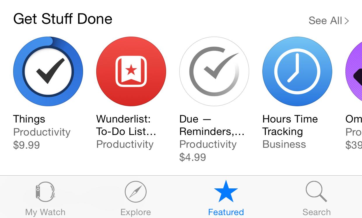 Apple Watch App App Store