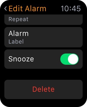Apple Watch Delete Alarm