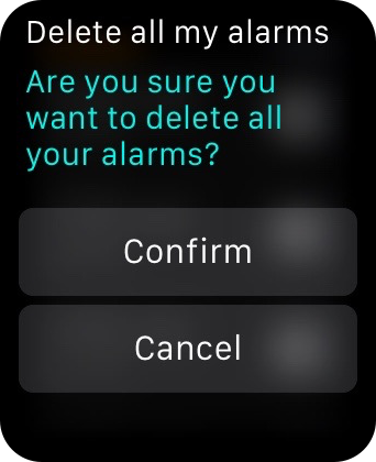 Apple Watch Delete All of my Alarms