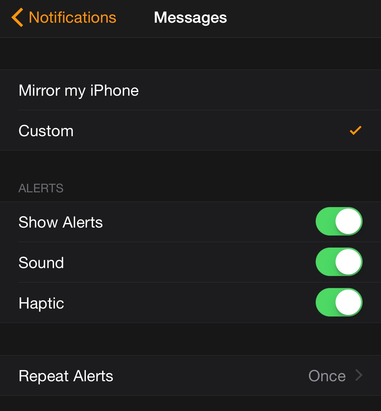 Apple Watch Notifications Messages