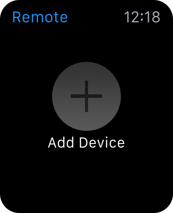 Apple Watch Remote app Add Device