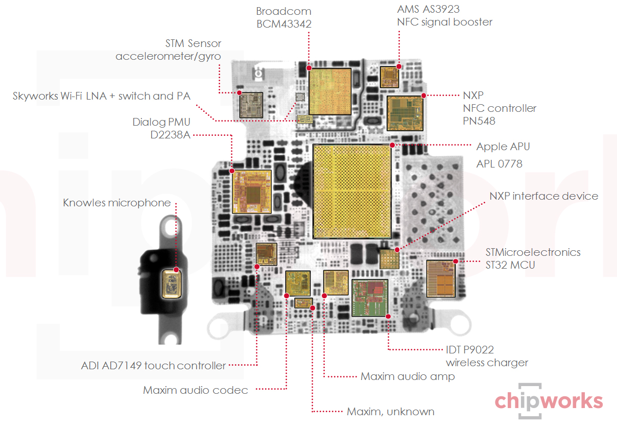 Apple Watch S1 teardown Chipworks 002