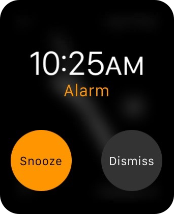 Apple Watch Snooze Alarm