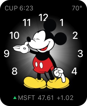 Apple Watch Stocks Mickey