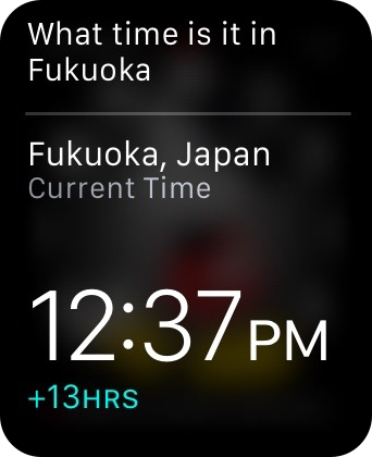 Apple Watch Time Different Location Siri