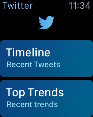 Apple Watch Twitter App
