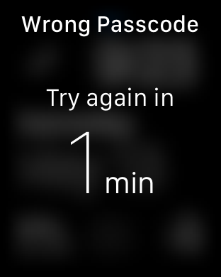 Apple Watch Wrong Passcode