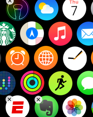 Apple Watch rearrange apps