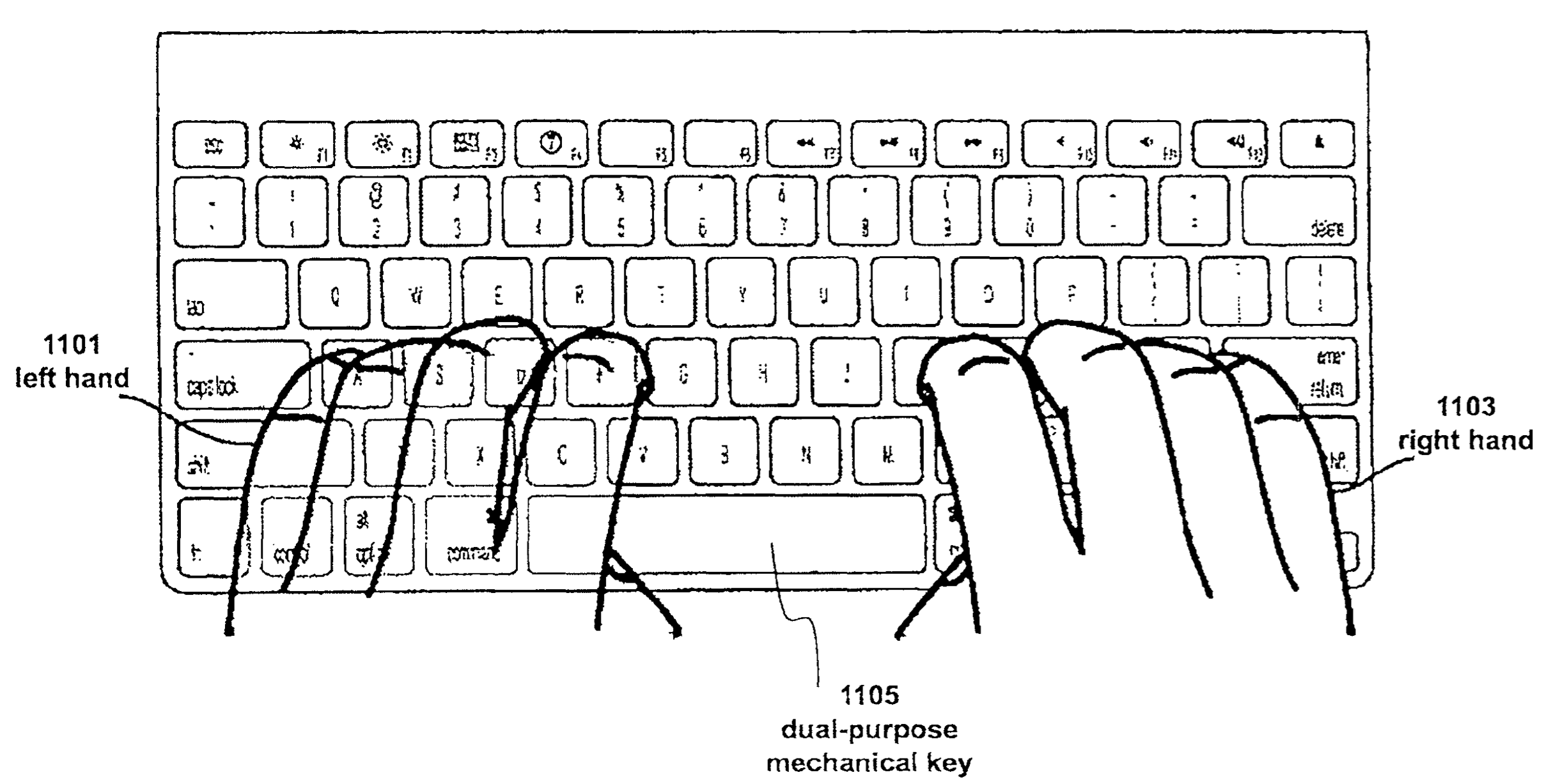 Apple patent Fusion keyboard drawing 002