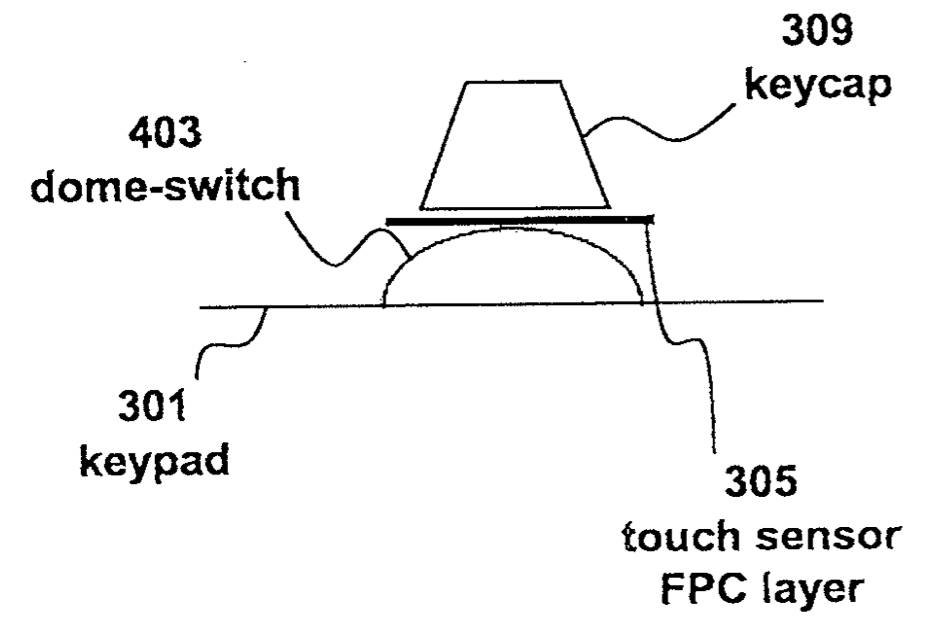 Apple patent Fusion keyboard drawing 004