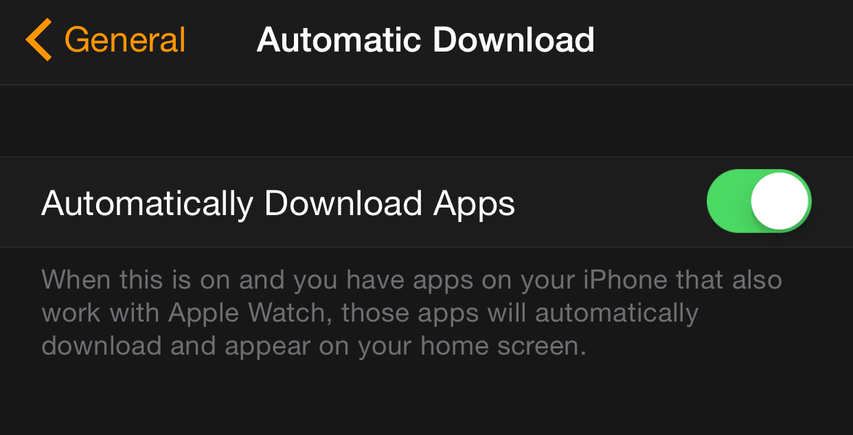 Automatically Download Apps Apple Watch
