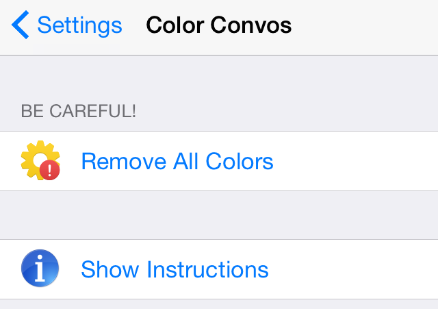 Color Convos Preferences