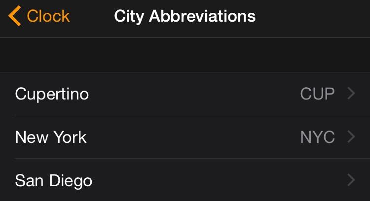 Delete city abbreviation