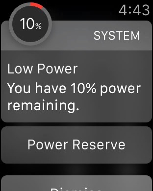 Enter Power Reserve Apple Watch Low Power