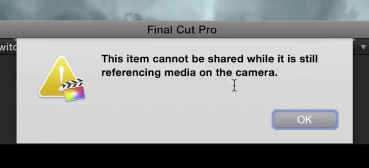 FCP Referencing media error