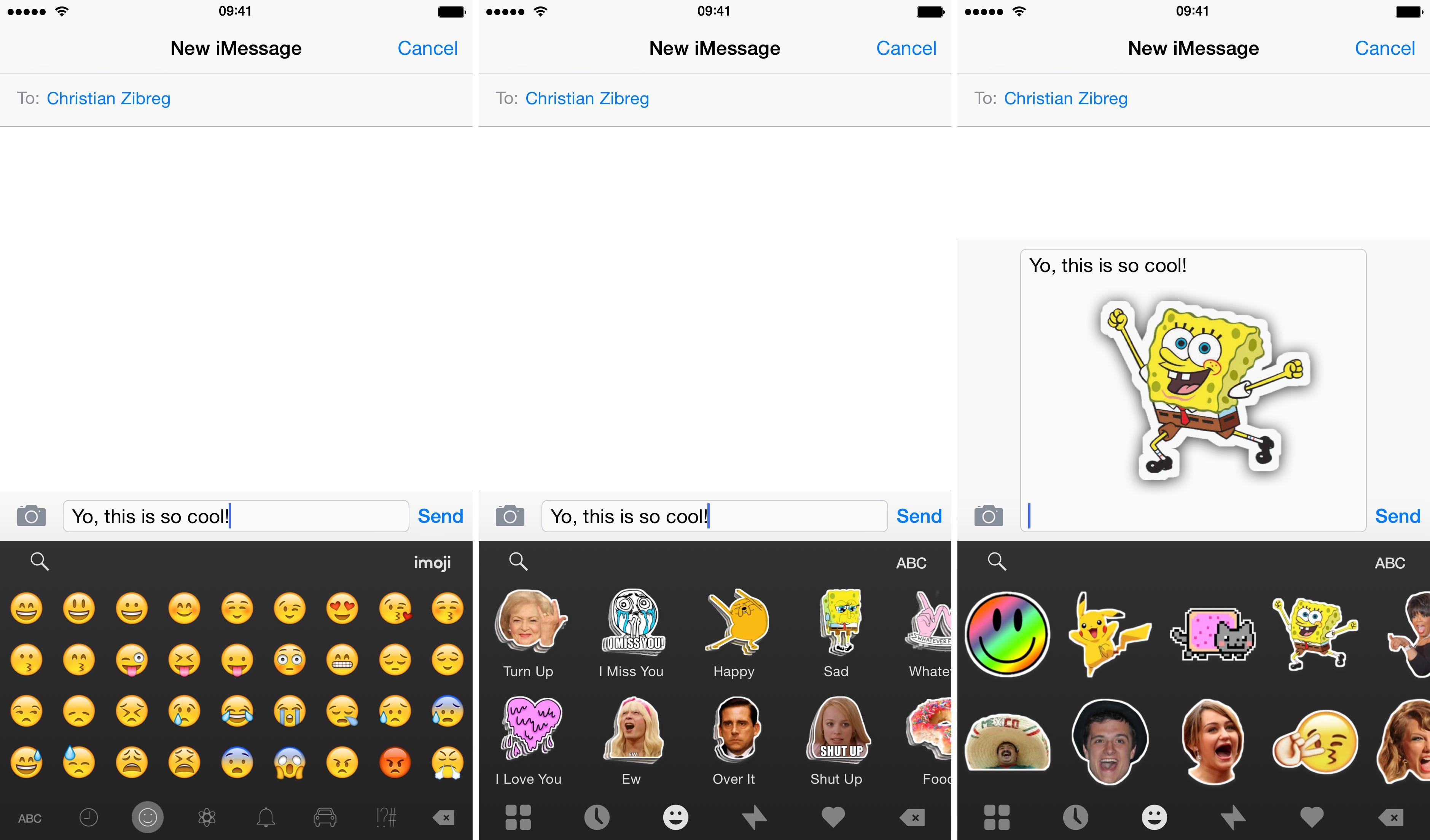 Captura de pantalla 003 del iPhone Fleksy Keyboard 5.7 para iOS Stickers
