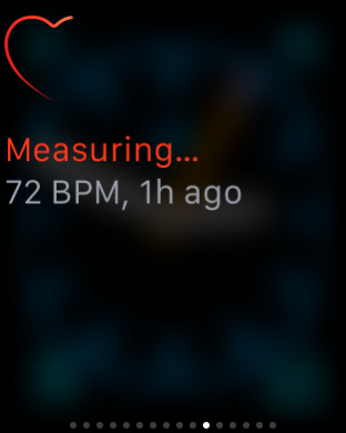 Incosistent readings Apple Watch screenshot