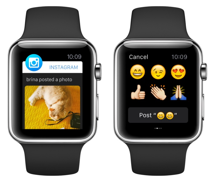 Instagram for Apple Watch Quick Reply screenshot 001