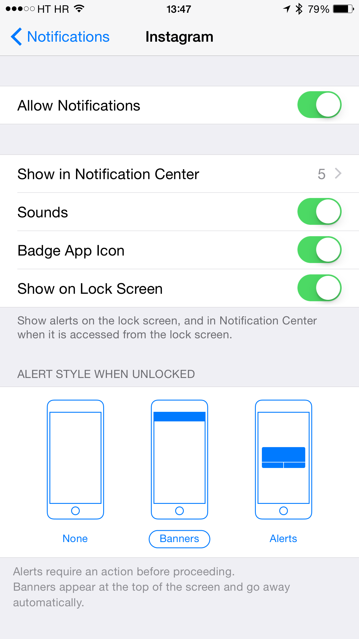 Instagram for iOS Enable notifications iPhone screenshot 001