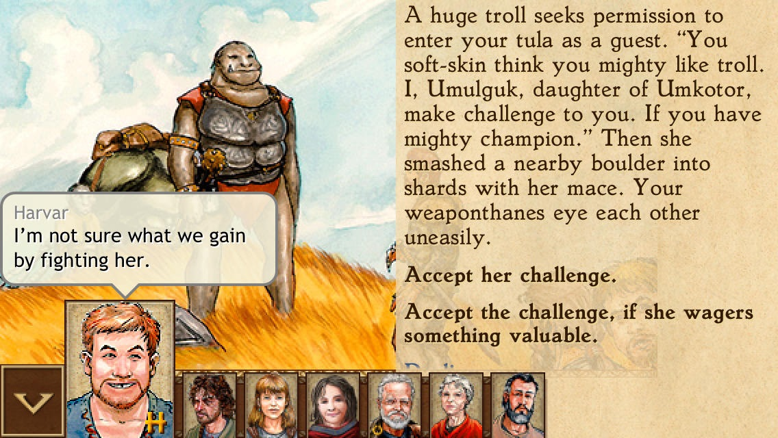 King of Dragon Pass iPad screenshot 001