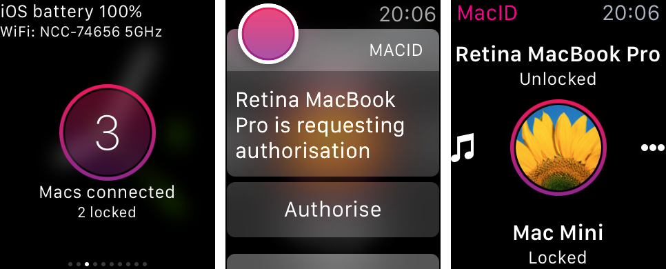 Captura de pantalla 001 de MacID 1.2 para iOS Apple Watch