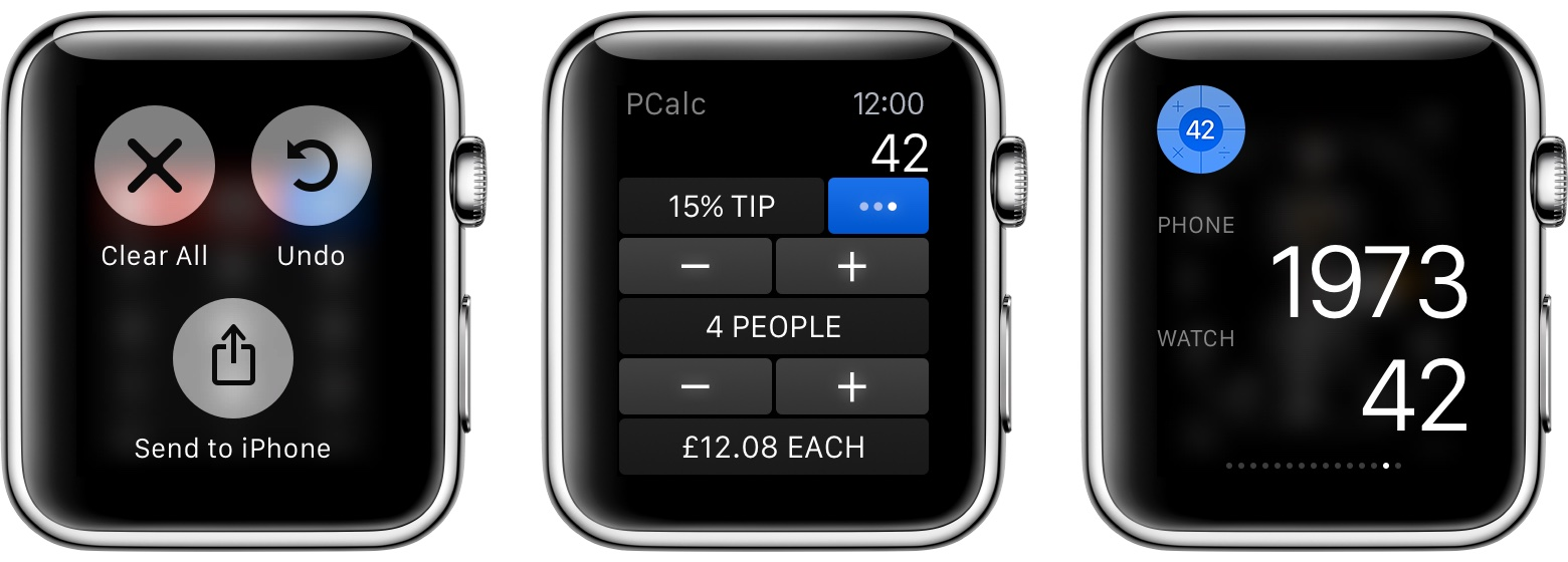 PCalc 3.4 for iOS Apple Watch screenshot 001