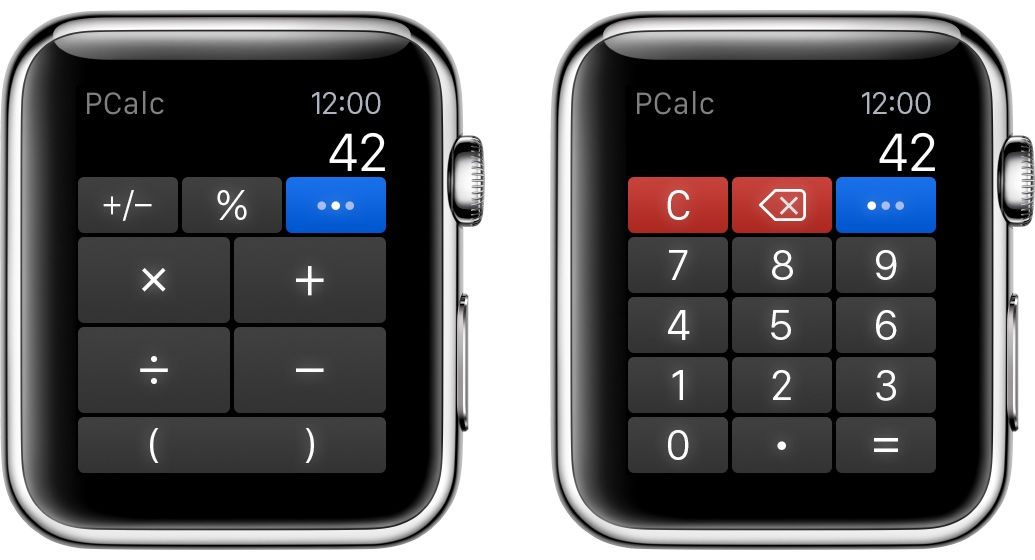PCalc 3.4 for iOS Apple Watch screenshot 002