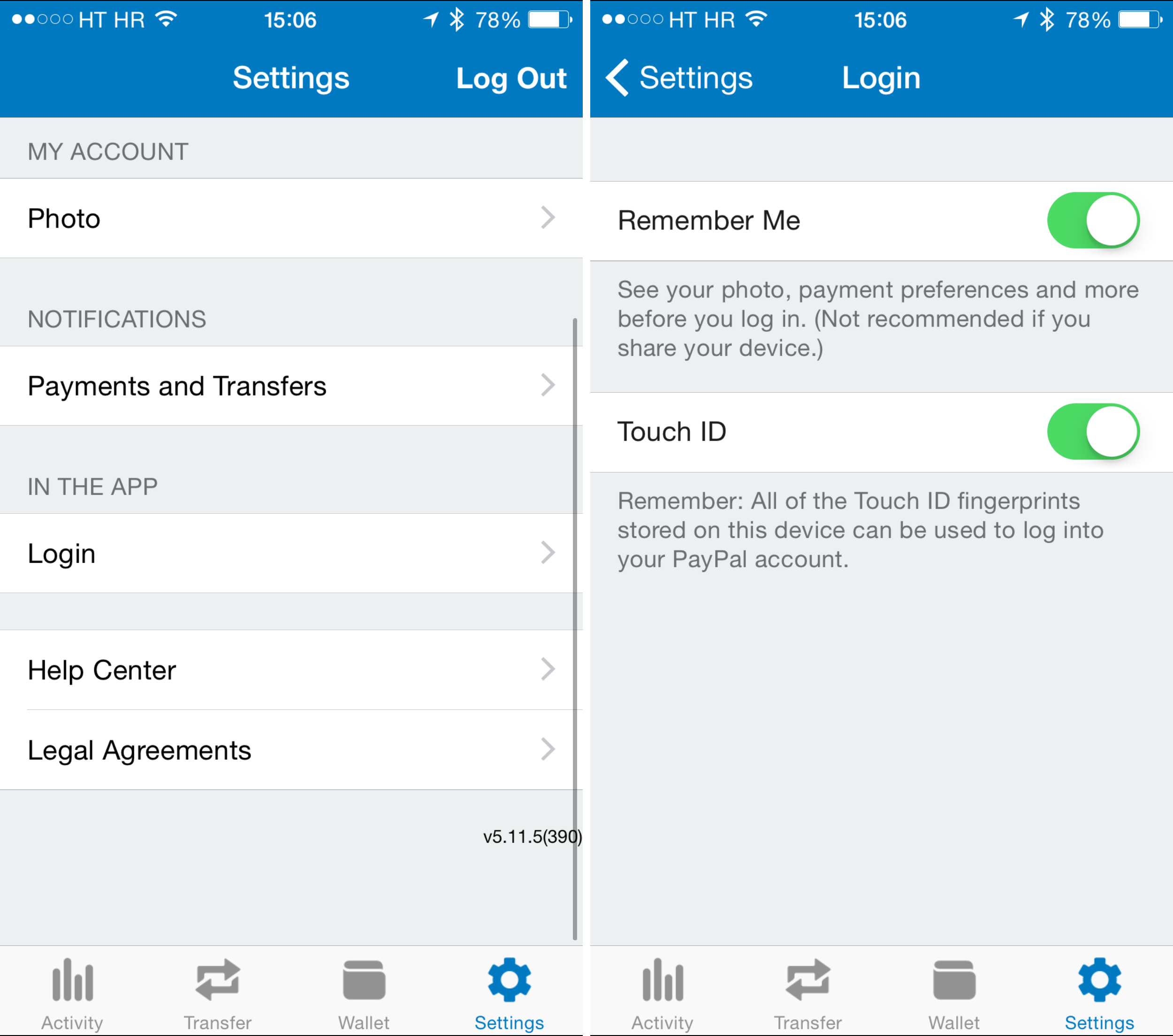 PayPal 5.11.5 for iOS iPhone screenshot 002