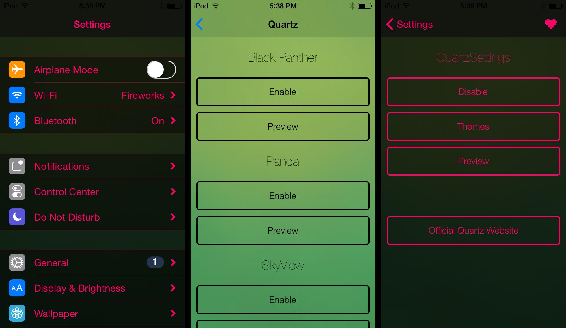 Quartz iPhone Theme