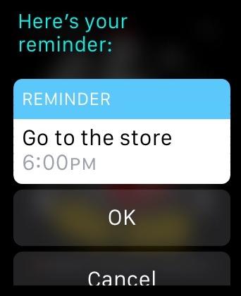 Reminders Apple Watch OK