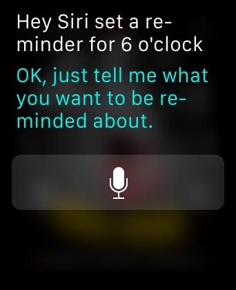 Reminders Apple Watch Siri