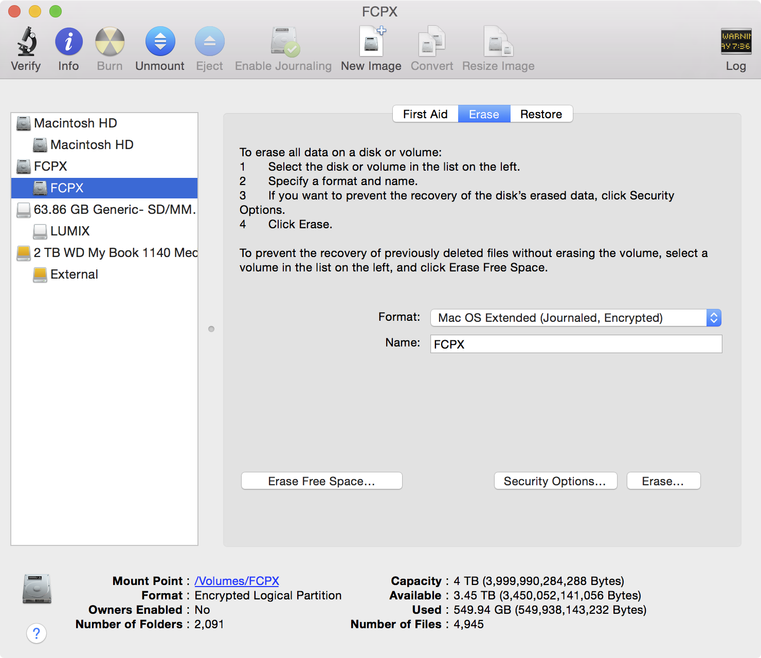 Seagate Backup Plus Fast Disk Utility Encrypted