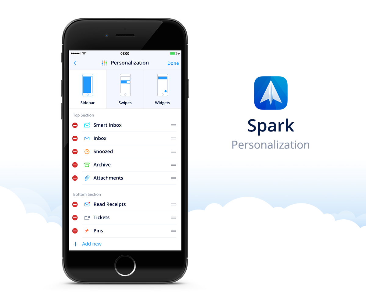 Spark by Readdle 1.0 for iOS Personalization iPhone screenshot 001