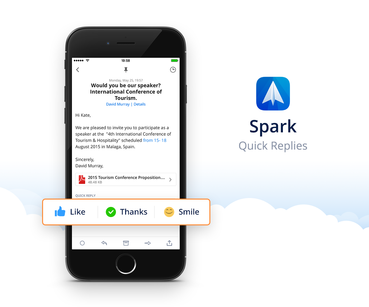 Spark by Readdle 1.0 for iOS Quick Replies iPhone screenshot 001