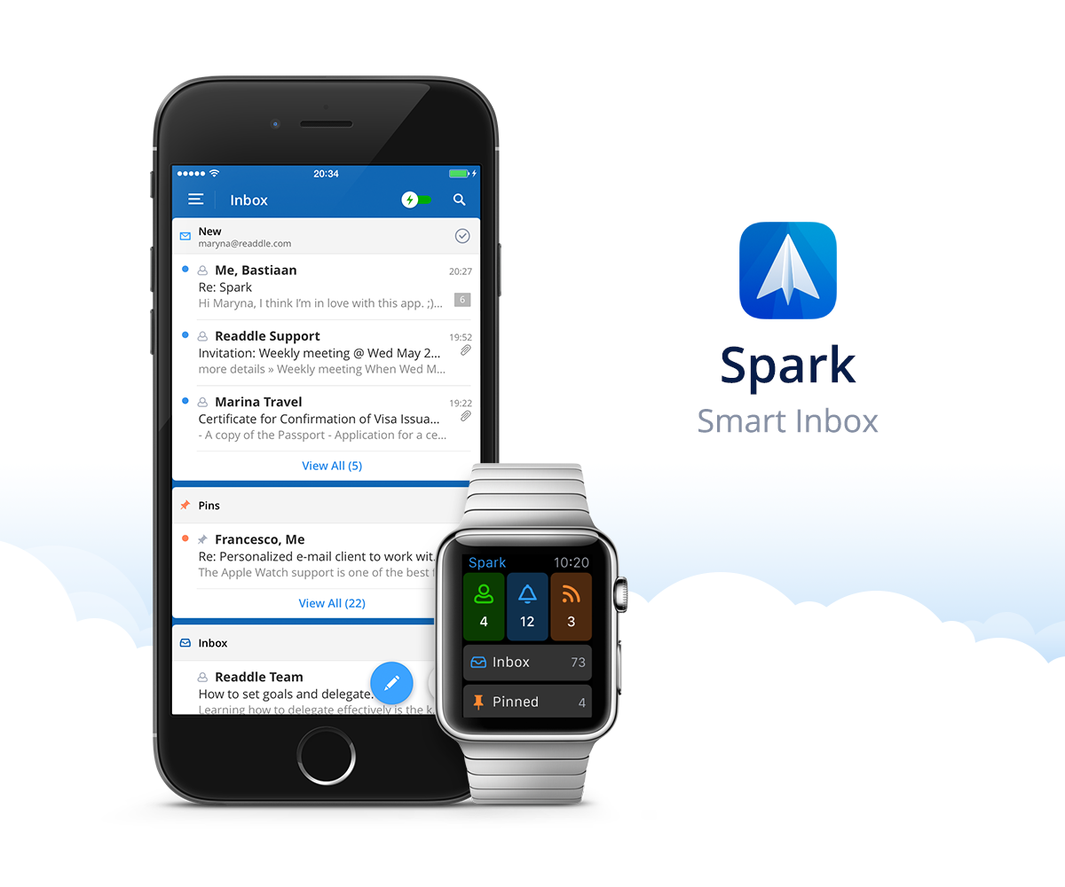 Spark by Readdle 1.0 for iOS Smart Inbox iPhone screenshot 001