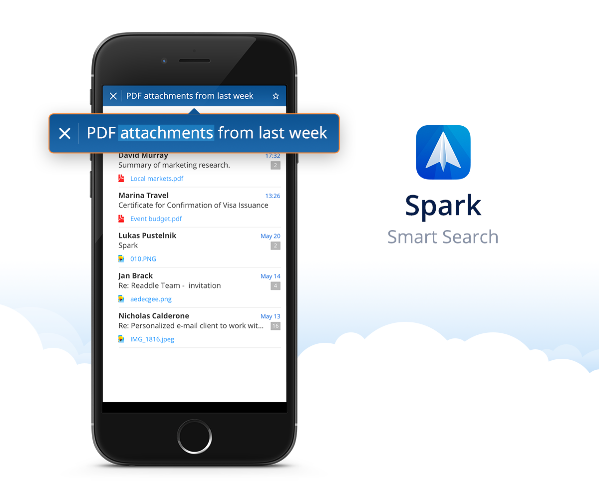 Spark by Readdle 1.0 for iOS Smart Search screenshot 001