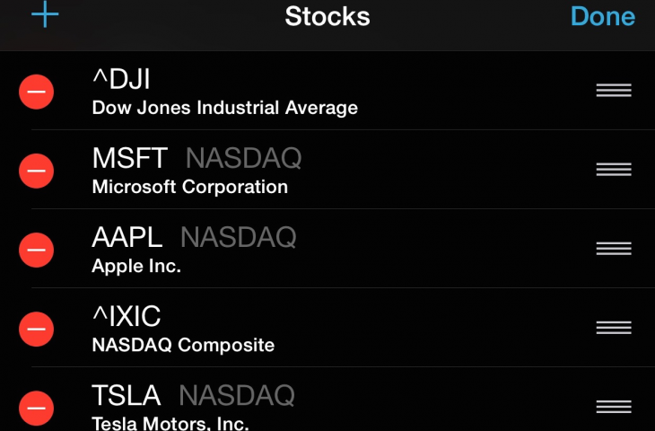 Stock app iPhone