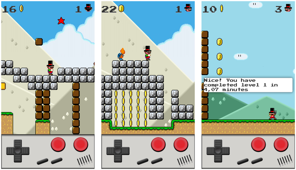 Super Bros 1.0 for iOS iPhone screenshot 002