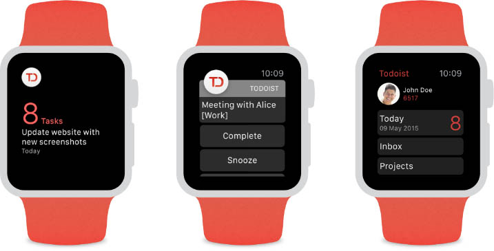 Todoist para Apple Watch teaser 003