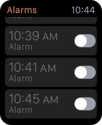 Turn off Alarm apple watch